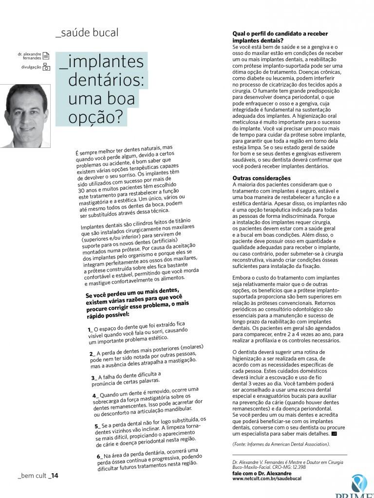 Cult 68 – Implantes dentários: uma boa opção?