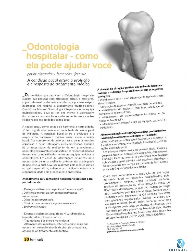 Cult 82 – Odontologia hospitalar – como ela pode ajudar você