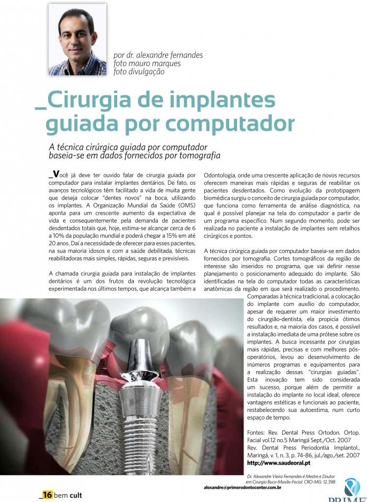 Cult 83 – Cirurgia de implantes guiada por computador