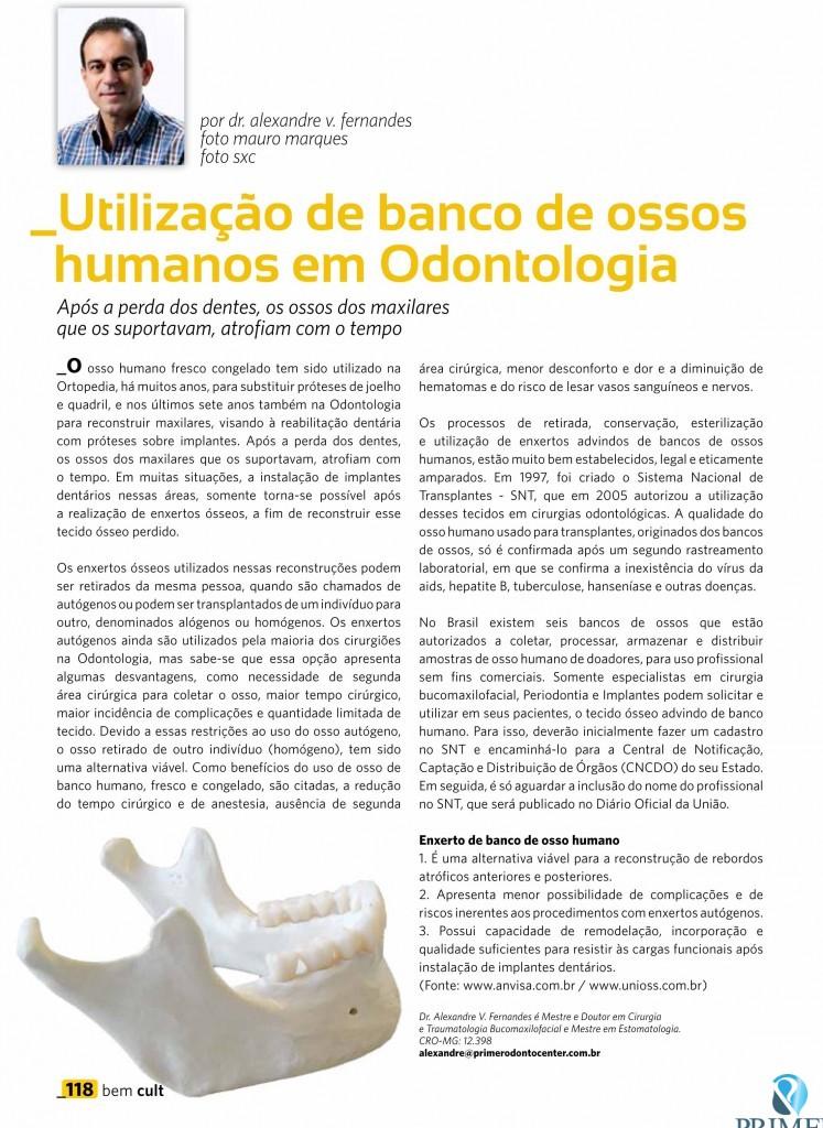 Cult 87 – Utilização de bancos de ossos humanos em Odontologia