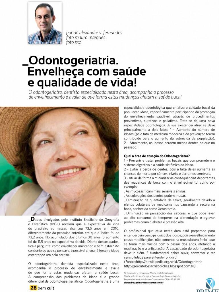 Cult 92 – Odontogeriatria. Envelheça com saúde e qualidade de vida!