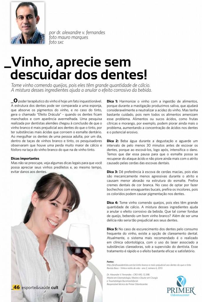 Cult 94 – Vinho, aprecie sem descuidar dos dentes!