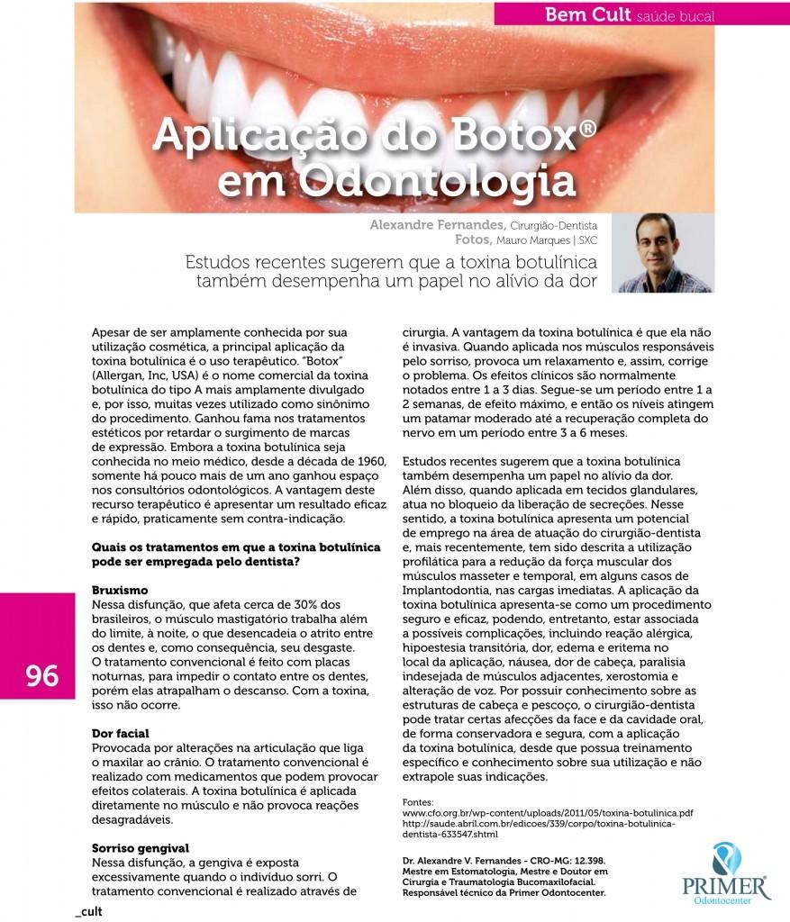Cult 99 – Aplicação do Botox em Odontologia