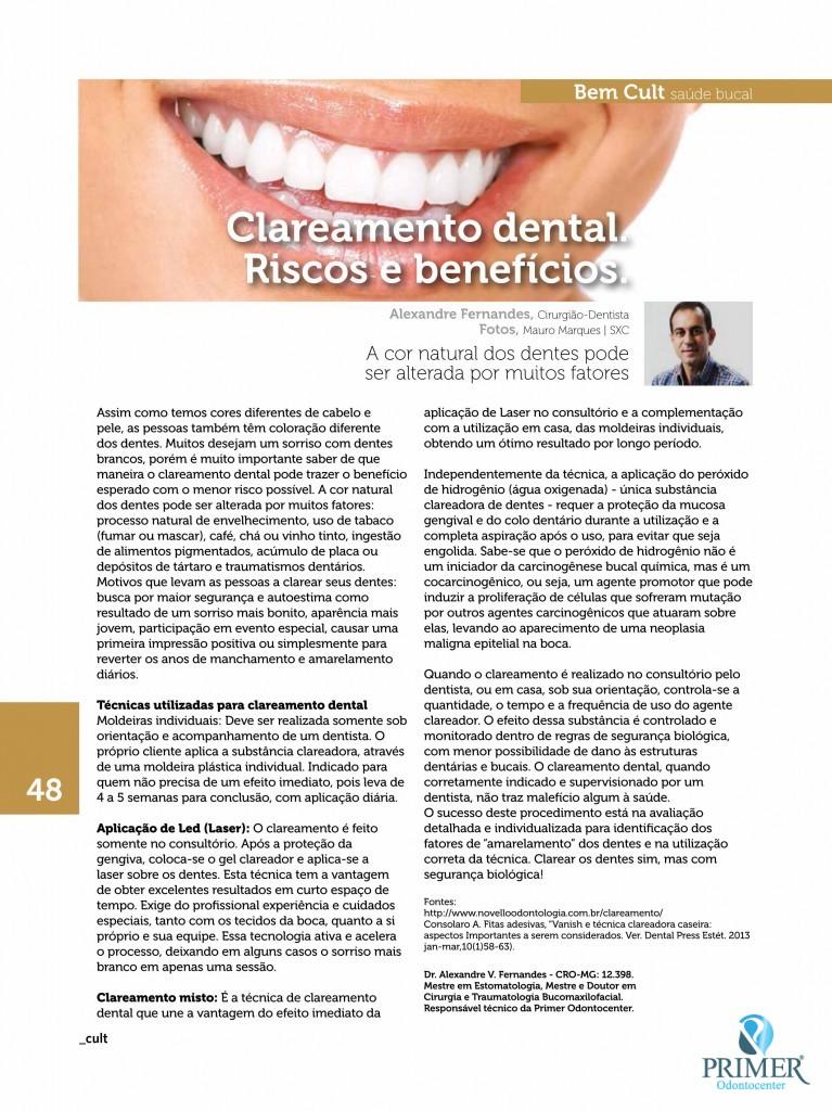 Cult 101 – Clareamento dental. Riscos e benefícios